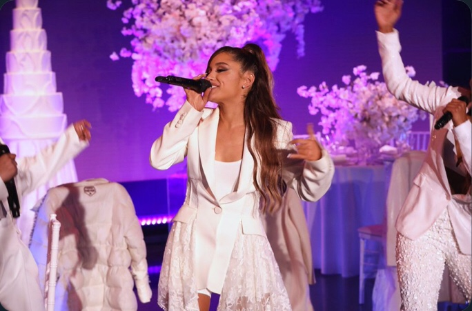 Ariana Grande performs